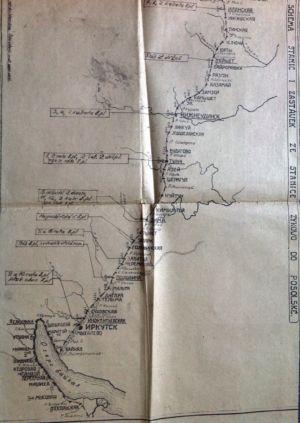 -схема расположения чехословаков на Транссибе 1