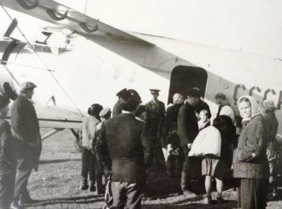 Кондратьево, прилет самолета - большое событие