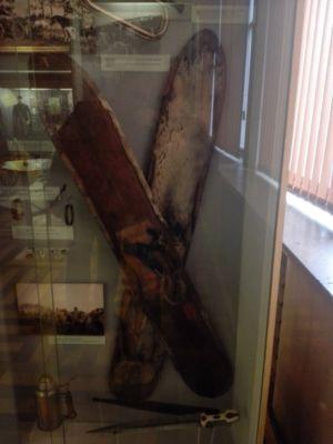 лыжи изъятые у партизан в районе Тайшета. Военный музей г.Прага