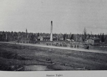 чехословацких легионеров движется по Московскому тракту в районе р.Тайшетки