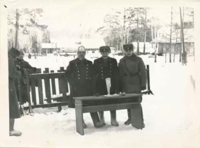 Лыжные соревнования в Байроновке (Нестеров В., Космина Ю., Краснощеков А.)