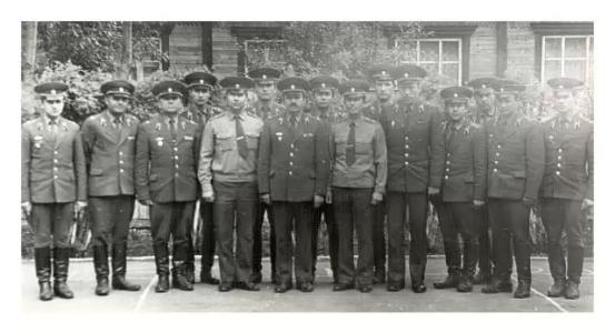 Сборы офицеров войсковой части 6619 г. Тайшет фото 1981 года.