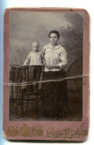 27 Е.А.Латышева с сыном Федей
