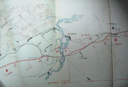 Главные железнодорожные пути Транссиба на тайшетском участке  и Московский тракт