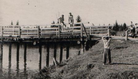 Мост через р.Тайшетку (середина 60-х годов)