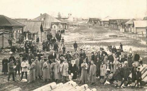 Село Шелаевское Прибытие партии ссыльных 1913 г.